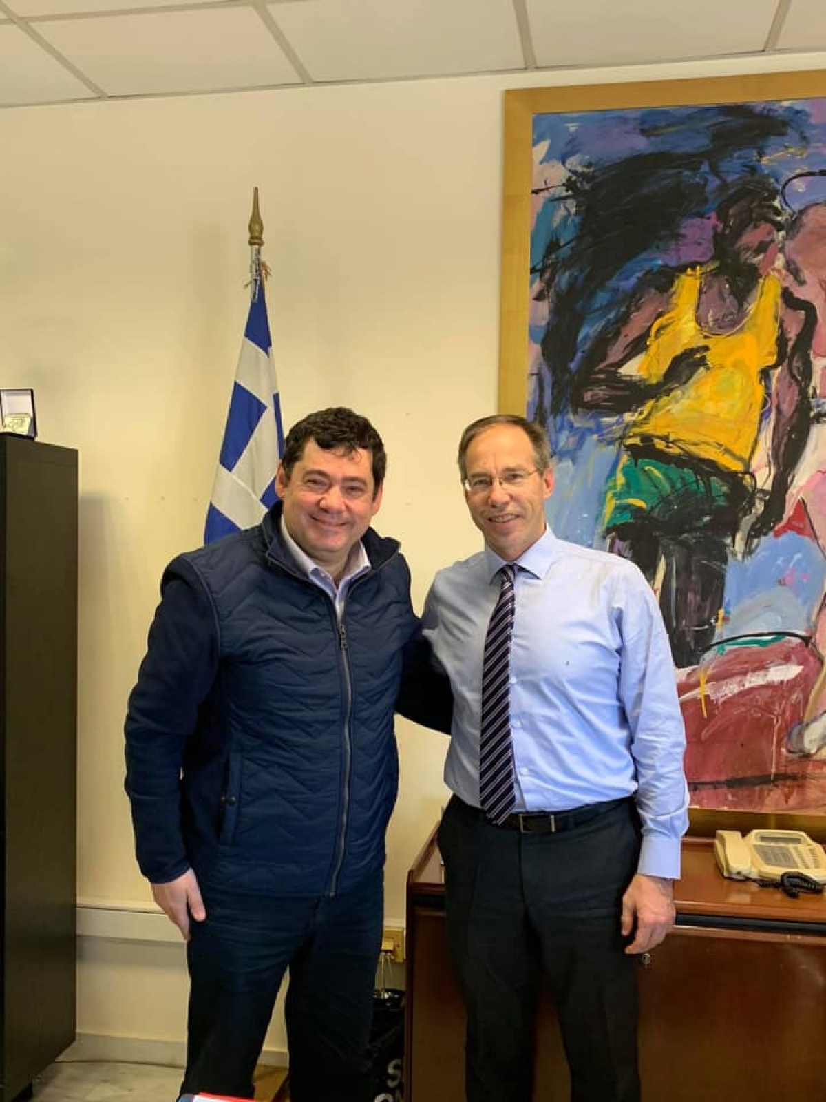 Με τον Γενικό Γραμματέα Αθλητισμού Γιώργο Μαυρωτά συναντήθηκε ο Δήμαρχος